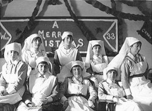 Canadian nurses during World War I (Ward 33)