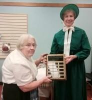 Service Award to Past President Barbara Bottriell