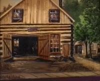 Switzer-Blacksmith-Shop-1935 - Painting by C Lyon - loaned by Phyllis Switzer - photo by Barbara Bottriell